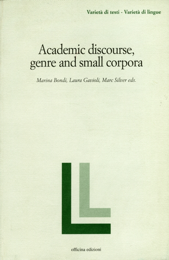 Academic discourse genre and small corpora